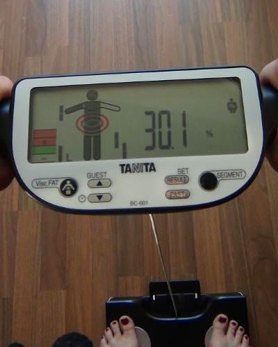 Die Handsensoren der Tanita BC 601 sorgen für eine besonders hohe Messgenauigkeit