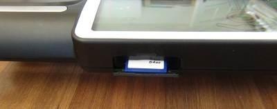 Der Tanita BC 601 Test zeigt, dass eine SD Karte Verwendung findet