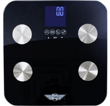 Personenwaage My Weigh Galileo, Badezimmerwaage, Körperfettwaage, Diätwaage, bis 150 kg, 31 x 31 cm - 1